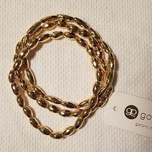 Gorjana gold bead stretch bracelet Nora new alb